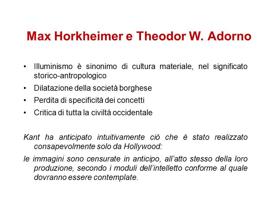 Max Horkheimer e Theodor W. Adorno 1947 Dialettica dell'Illuminismo Dialektik der Auklärung. Philosophische Fragmente scritta fra il 1942 e il 1944 pu