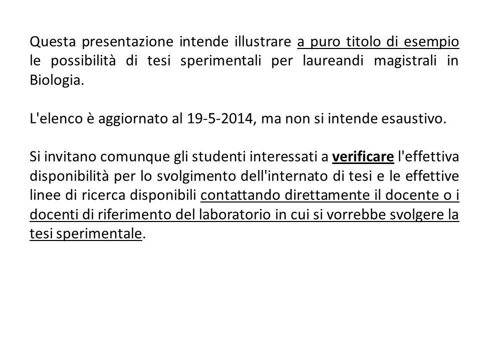 Per informazioni SITO WEB DEL CORSO DI LAUREA: LE INFORMAZIONI SUI CORSI DI LAUREA TRIENNALI E MAGISTRALI INCARDINATI NEL DCB SI TROVANO QUI: http://www.unisa.it/dipartimenti/dip_chimica_e_biologia/didattica/index (N.B.: IL VECCHIO SITO DI FACOLTA NON E PIU AGGIORNATO!!!) PRESIDENTE DEL CORSO DI STUDI IN BIOLOGIA: PROF.SSA CARLA ESPOSITO: cesposito@unisa.itcesposito@unisa.it (fino a ottobre 2014: presidente f.f.