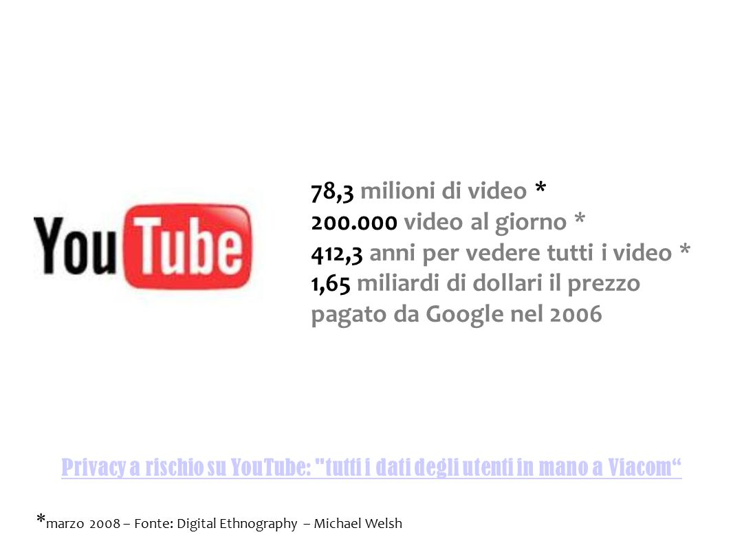 Privacy a rischio su YouTube: