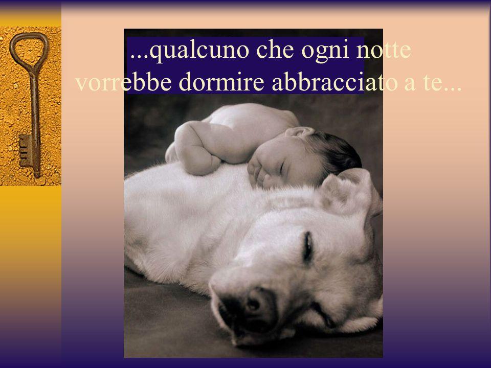 ...qualcuno che ogni notte vorrebbe dormire abbracciato a te...
