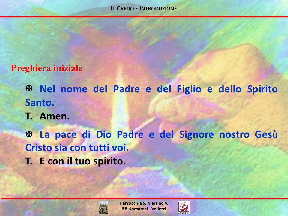 I L C REDO - I NTRODUZIONE Perché la catechesi sul Credo .