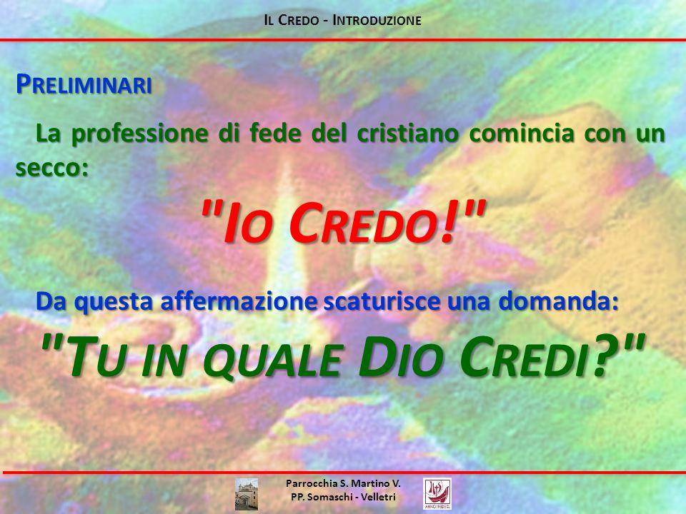 I L C REDO - I NTRODUZIONE Parrocchia S.Martino V.