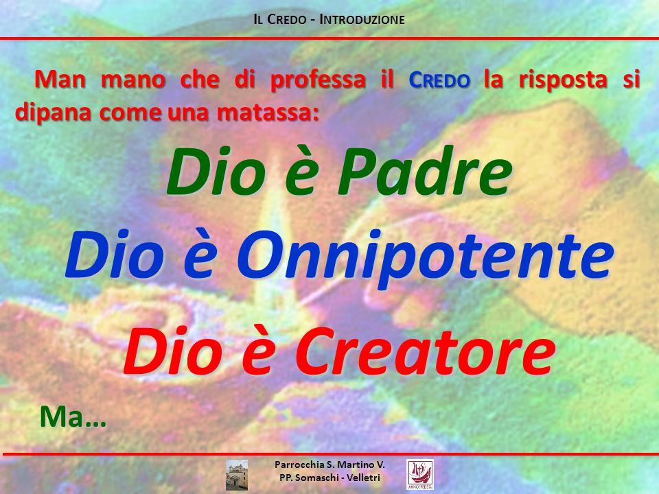 I L C REDO - I NTRODUZIONE Parrocchia S. Martino V. PP. Somaschi - Velletri È il Dio dei Cristiani?