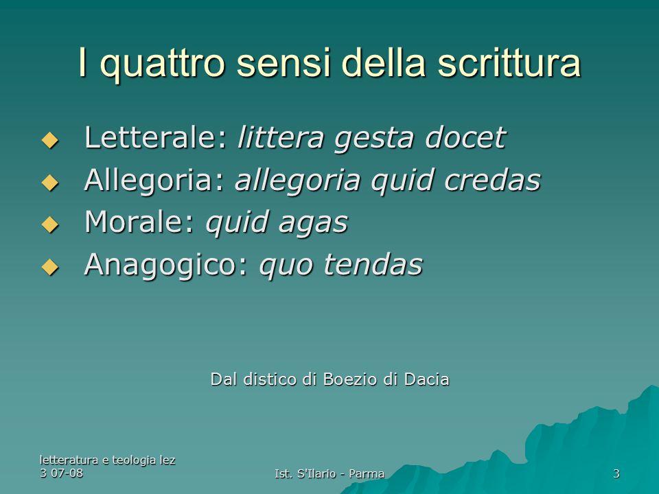 letteratura e teologia lez 3 07-08 Ist.
