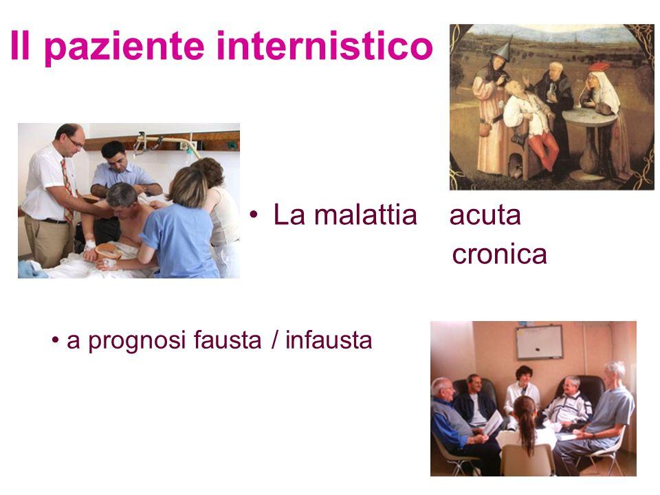 Il paziente internistico La malattia acuta cronica a prognosi fausta / infausta