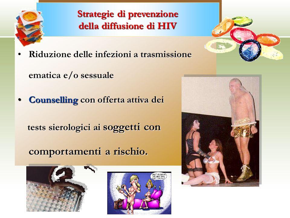 Riduzione delle infezioni a trasmissione ematica e/o sessualeRiduzione delle infezioni a trasmissione ematica e/o sessuale Counselling con offerta att