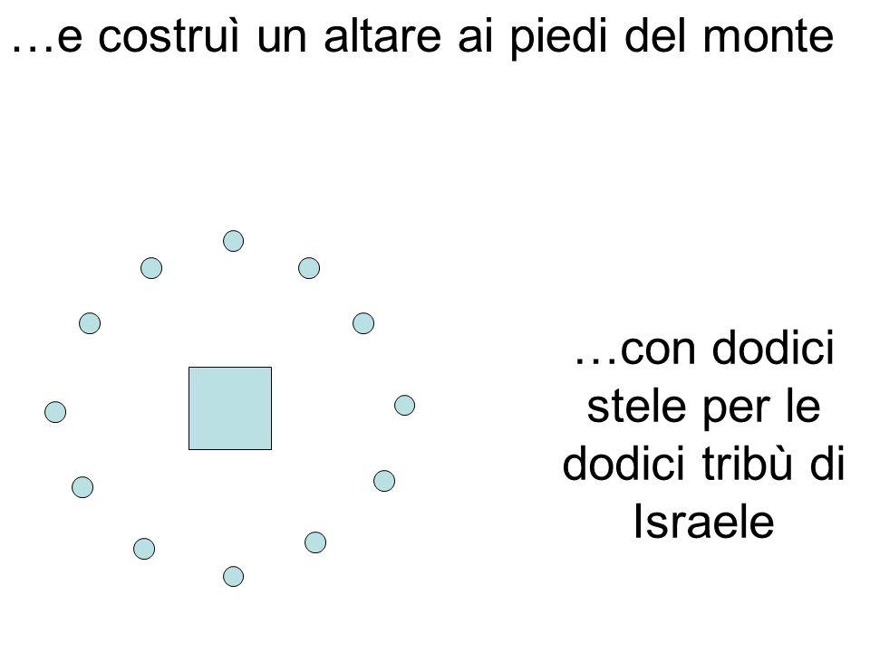 …e costruì un altare ai piedi del monte …con dodici stele per le dodici tribù di Israele