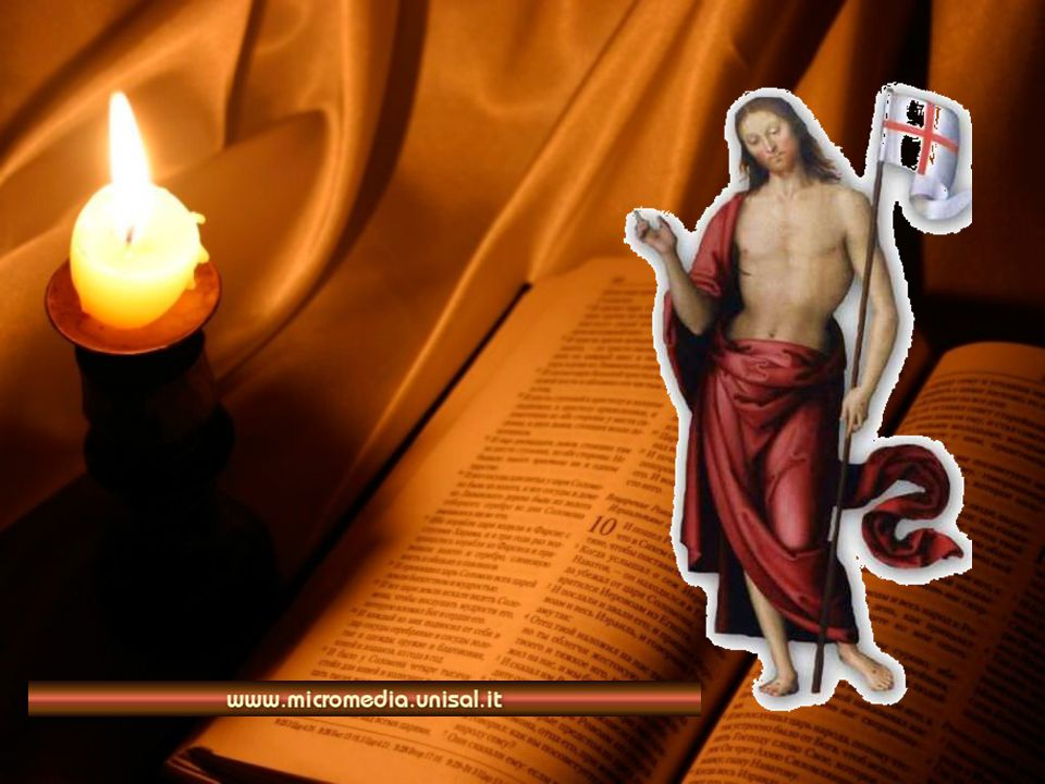 Dalla Lettera di S. Paolo apostolo ai Romani Fratelli, non sapete che quanti siamo stati battezzati in Cristo Gesù, siamo stati battezzati nella sua m