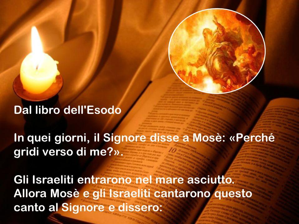 Dal libro dell Esodo In quei giorni, il Signore disse a Mosè: «Perché gridi verso di me?».