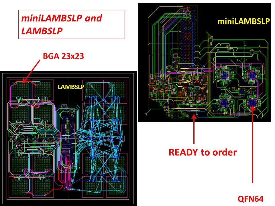 miniLAMBSLP and LAMBSLP miniLAMBSLP LAMBSLP READY to order QFN64 BGA 23x23