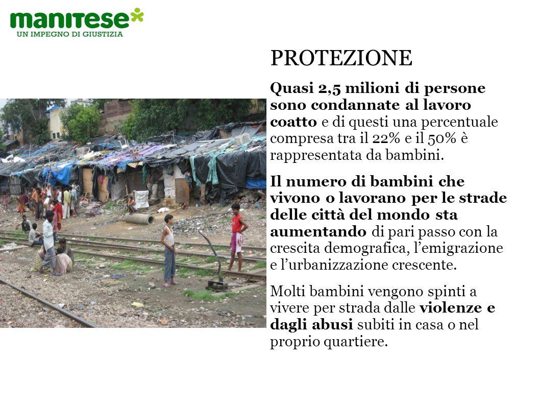 Oggi il numero dei bambini e ragazzi che vivono soli nelle strade varia tra i 100 e 150 milioni nel mondo.
