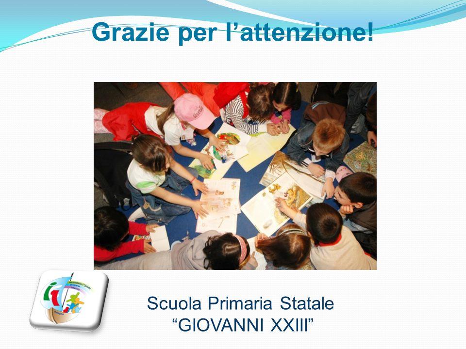 """Grazie per l'attenzione! Scuola Primaria Statale """"GIOVANNI XXIII"""""""