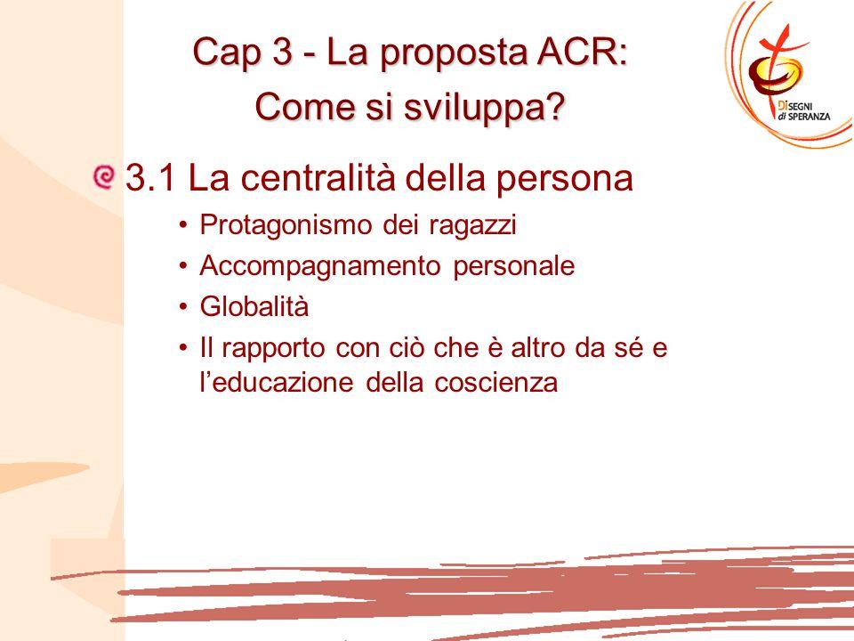Cap 3 - La proposta ACR: Come si sviluppa.