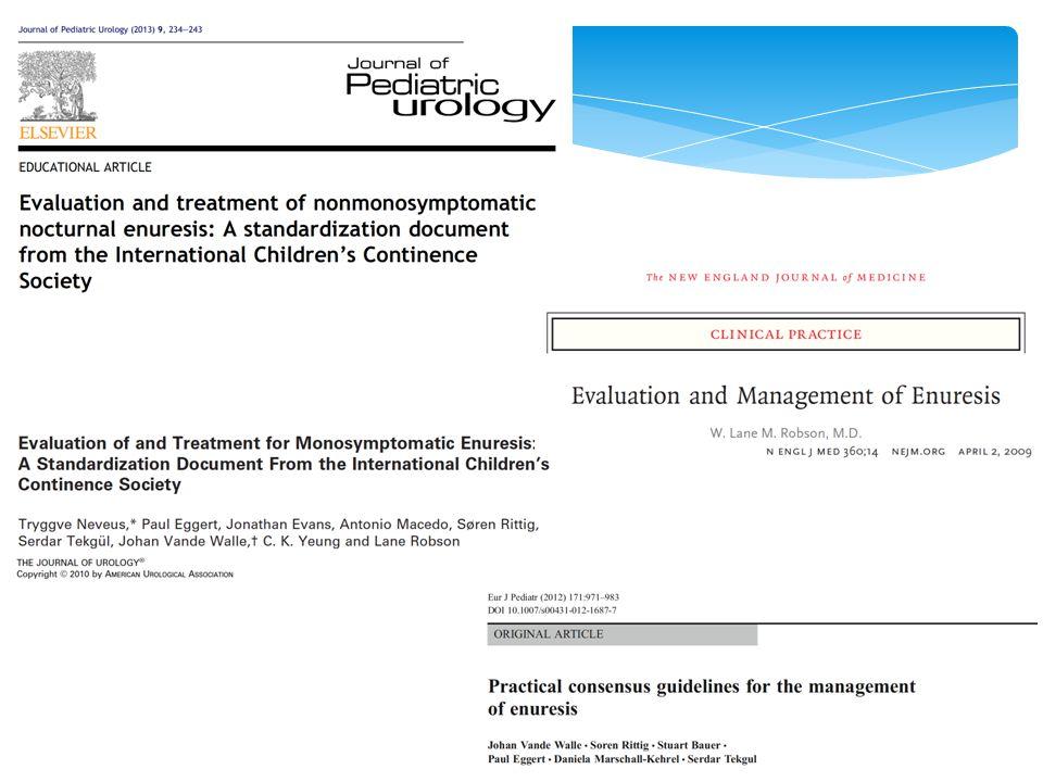 TAKE HOME MESSAGES Enuresi problema molto frequente in pediatria!!.