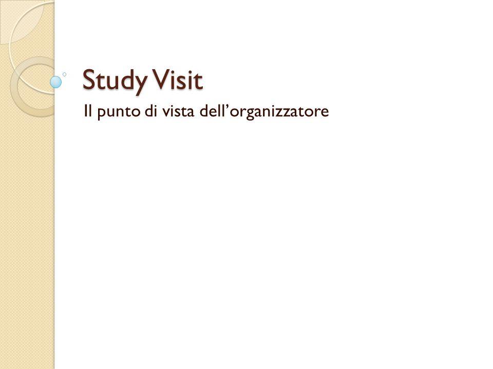 Study Visit Il punto di vista dell'organizzatore