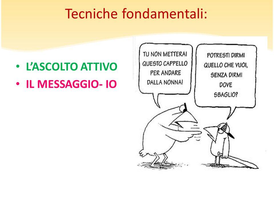 Tecniche fondamentali: L'ASCOLTO ATTIVO IL MESSAGGIO- IO