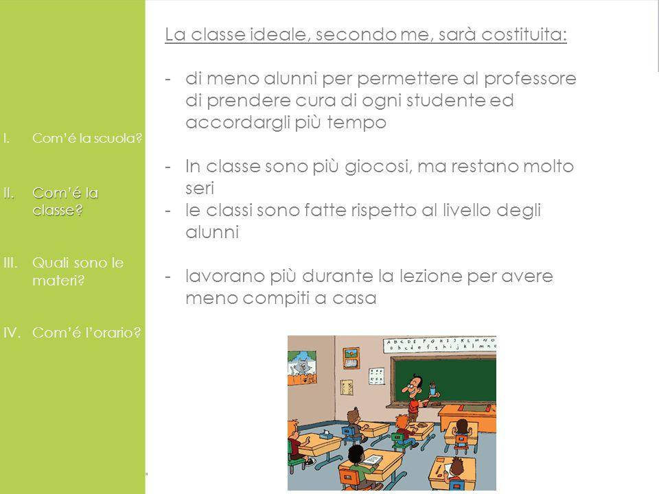 La scuola ideale La Scuola Ideale I.Com'é la scuola.