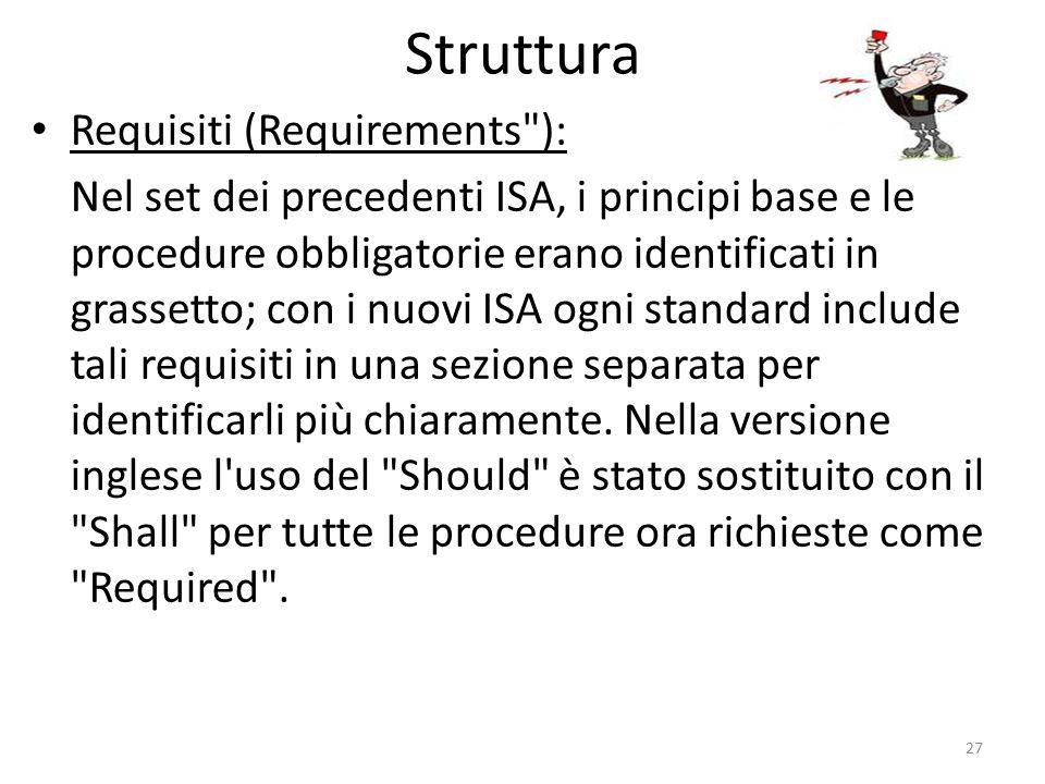 Struttura Requisiti (Requirements