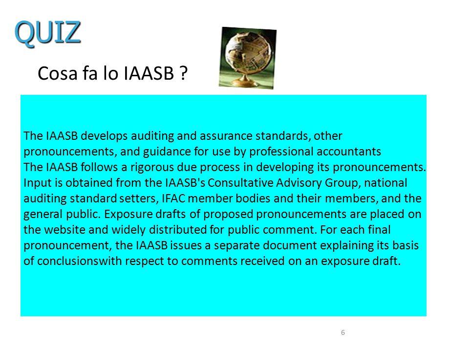 Cos'è l'ISA Clarity L'obiettivo primario era quindi di far eleggere gli ISAs come riferimento di qualità della revisione e di permetterne l adozione da parte dei regolatori e standard setter in territori chiave, quali ad esempio i paesi europei.