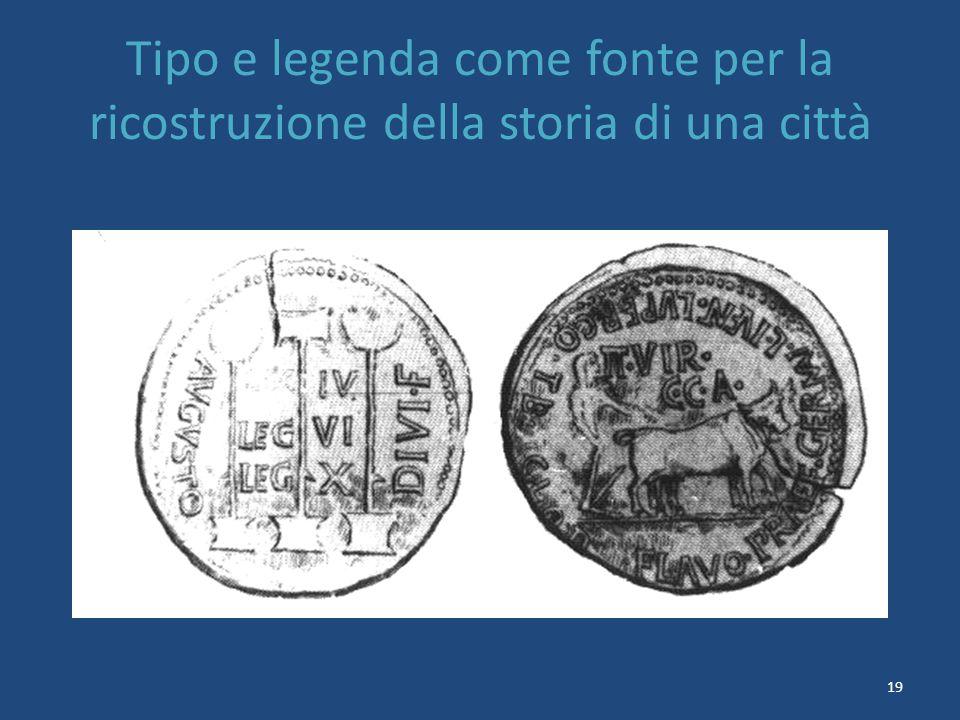 19 Tipo e legenda come fonte per la ricostruzione della storia di una città