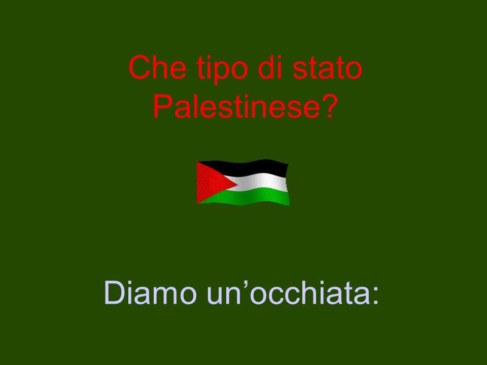 Che tipo di stato Palestinese Diamo un'occhiata: