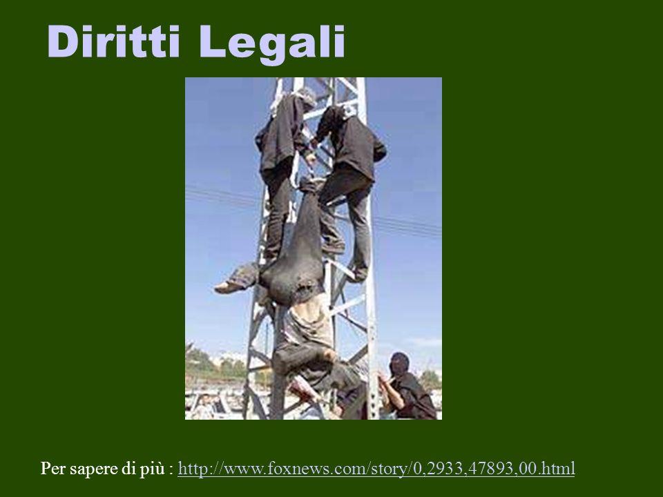 Diritti Legali Per sapere di più : http://www.foxnews.com/story/0,2933,47893,00.htmlhttp://www.foxnews.com/story/0,2933,47893,00.html