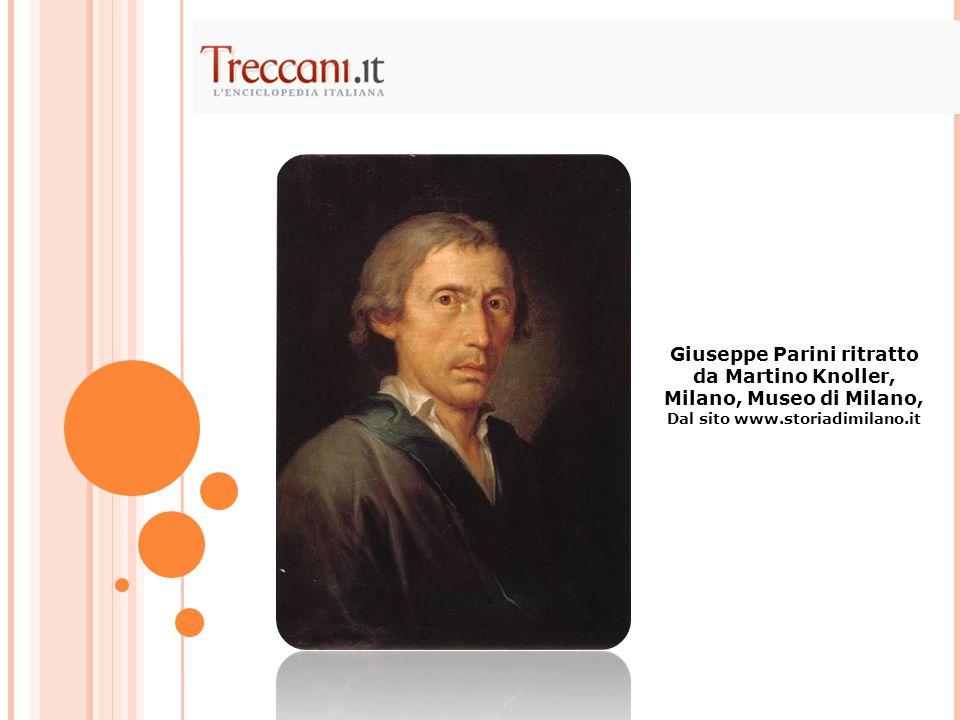 Giuseppe Parini ritratto da Martino Knoller, Milano, Museo di Milano, Dal sito www.storiadimilano.it