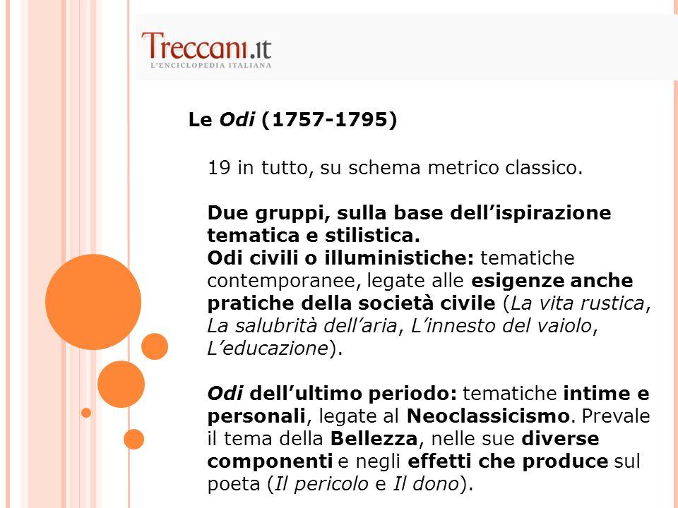 Poema satirico in endecasillabi sciolti In quattro parti: le prime due pubblicate tra il '63 e il '65, le altre due lasciate incompiute e pubblicate postume, nel 1801.