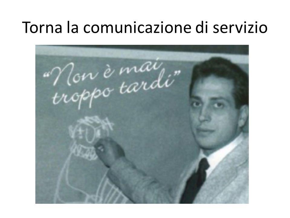 Torna la comunicazione di servizio