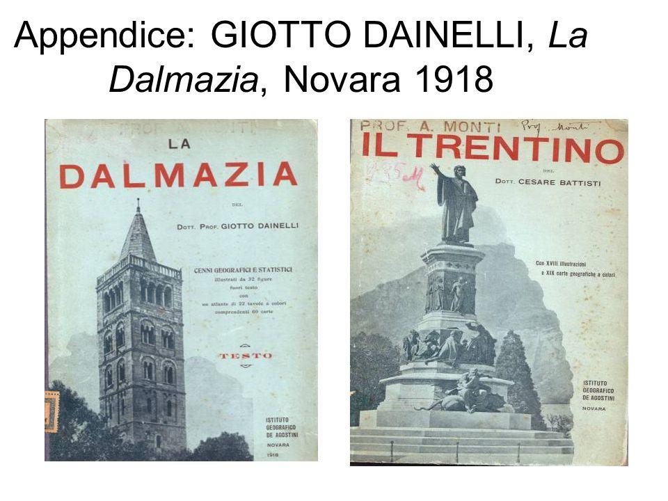 Appendice: GIOTTO DAINELLI, La Dalmazia, Novara 1918