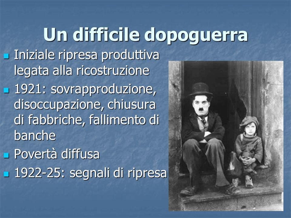 La grande crisi: il caso italiano 1.Crisi del sistema bancario 2.