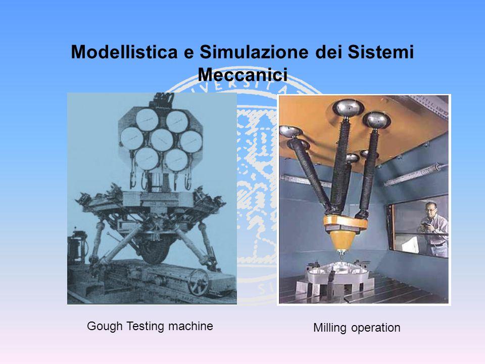 Modellistica e Simulazione dei Sistemi Meccanici Gough Testing machine Milling operation