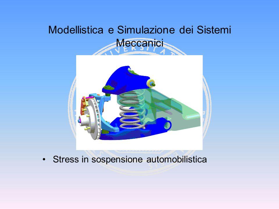 Modellistica e Simulazione dei Sistemi Meccanici Stress in sospensione automobilistica