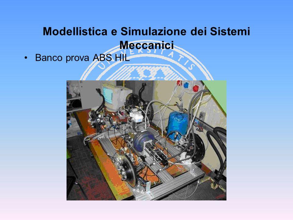 Banco prova ABS HIL Modellistica e Simulazione dei Sistemi Meccanici