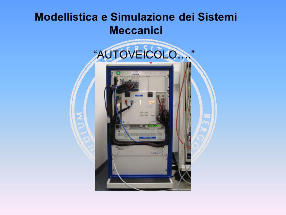 """""""AUTOVEICOLO…."""" Modellistica e Simulazione dei Sistemi Meccanici"""