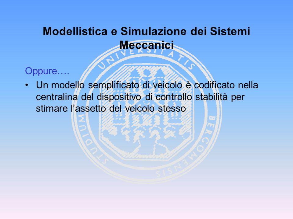 Oppure…. Un modello semplificato di veicolo è codificato nella centralina del dispositivo di controllo stabilità per stimare l'assetto del veicolo ste