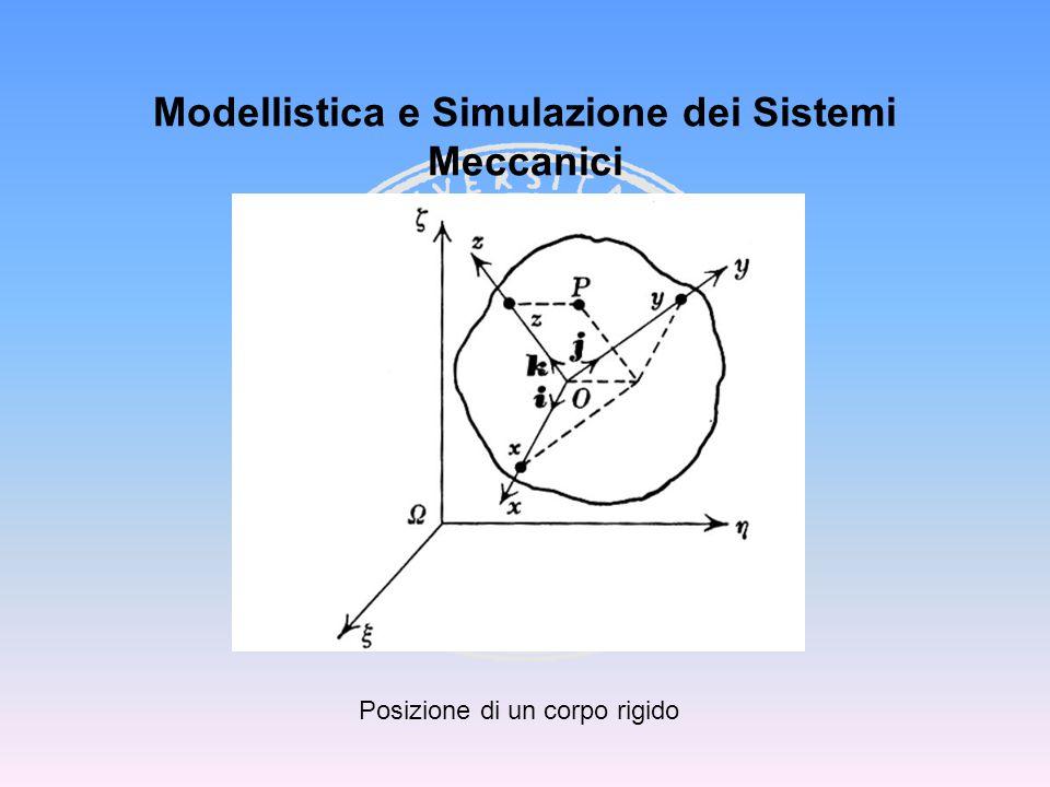 Modellistica e Simulazione dei Sistemi Meccanici Posizione di un corpo rigido