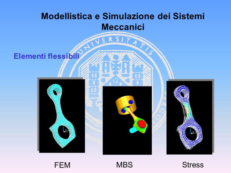 FEM MBS Stress Modellistica e Simulazione dei Sistemi Meccanici Elementi flessibili