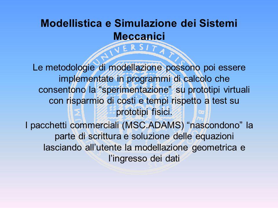 Testi di consultazione: A.Shabana, Dynamics of Multibody Systems, Wiley.