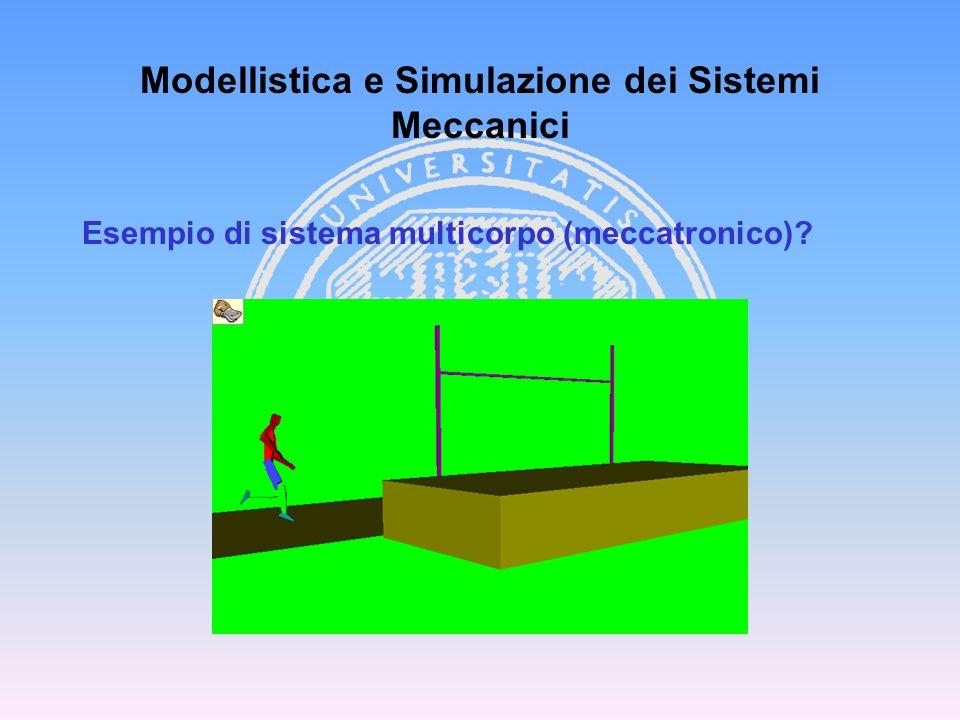 Modellistica e Simulazione dei Sistemi Meccanici Cinematica del C.R Collegamenti tra corpi Tipologia dei sistemi multibody Sistemi di coordinate, vincoli e gradi di libertà Classi di problemi Cenni sull' integrazione tra FEM e multibody