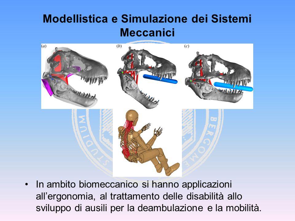 In ambito biomeccanico si hanno applicazioni all'ergonomia, al trattamento delle disabilità allo sviluppo di ausili per la deambulazione e la mobilità