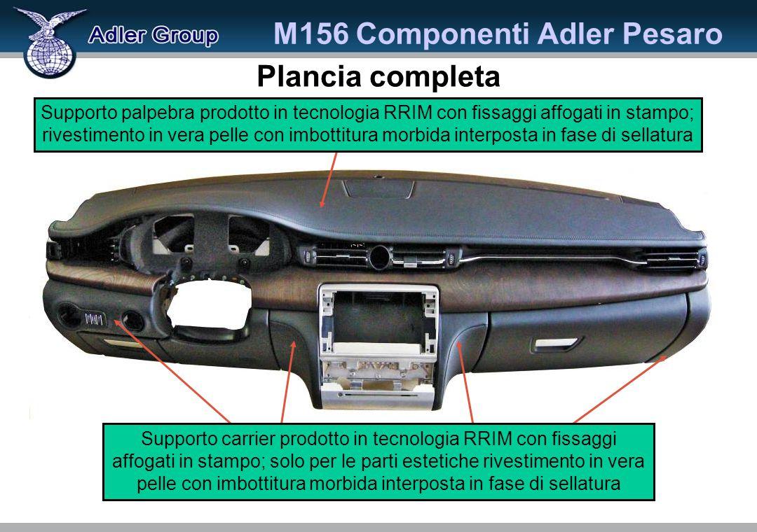 M156 Componenti Adler Pesaro Plancia completa Supporto carrier prodotto in tecnologia RRIM con fissaggi affogati in stampo; solo per le parti estetich
