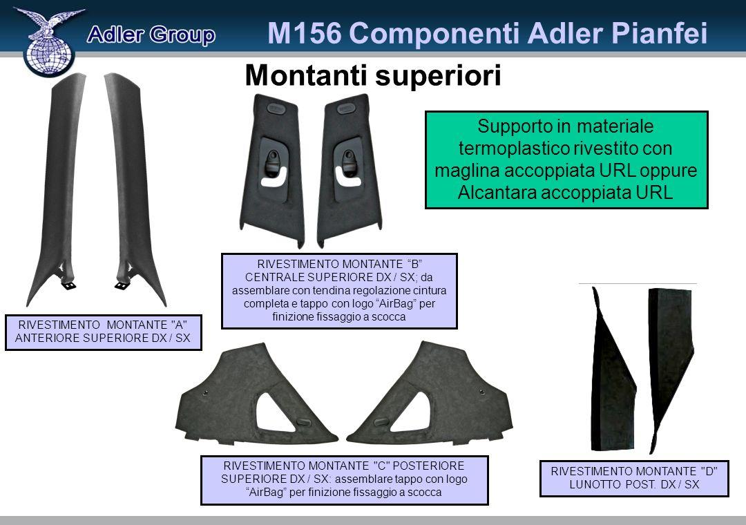 M156 Componenti Adler Pianfei RIVESTIMENTO MONTANTE D LUNOTTO POST.