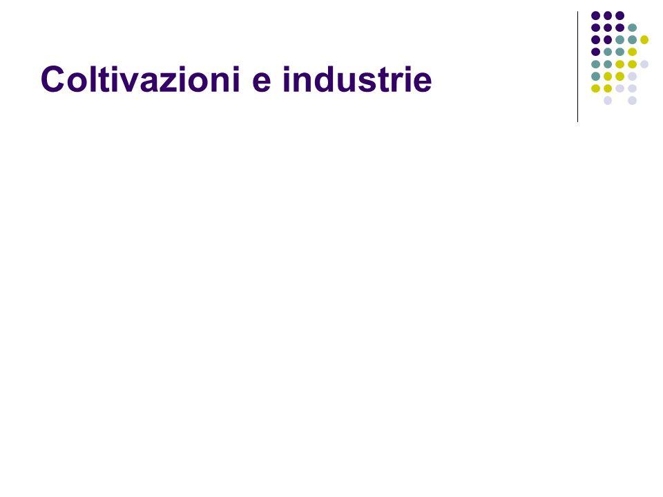 Coltivazioni e industrie