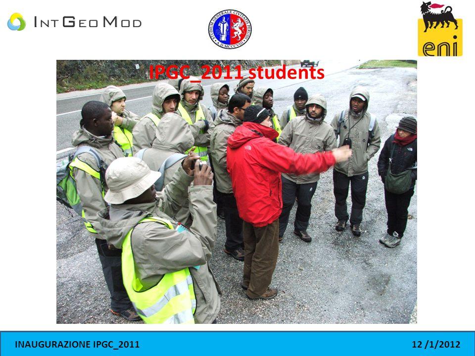 INAUGURAZIONE IPGC_201112 /1/2012 IPGC_2011 students