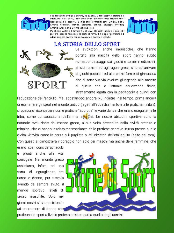 LA STORIA DELLO SPORT
