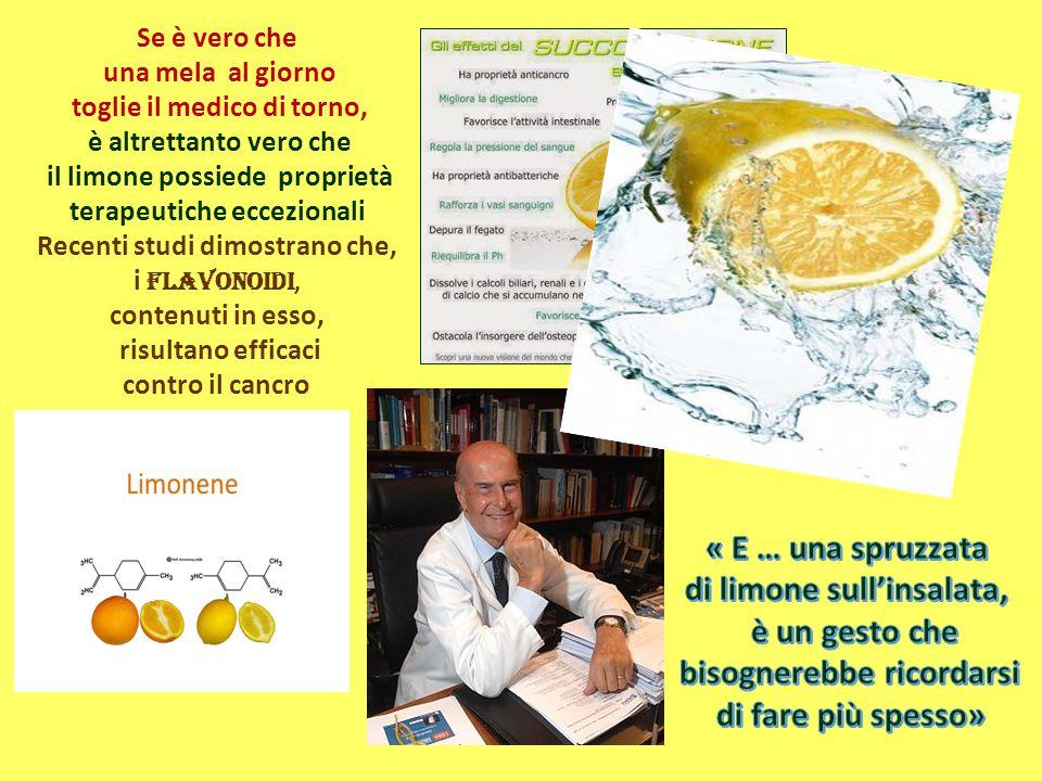 Se è vero che una mela al giorno toglie il medico di torno, è altrettanto vero che il limone possiede proprietà terapeutiche eccezionali Recenti studi