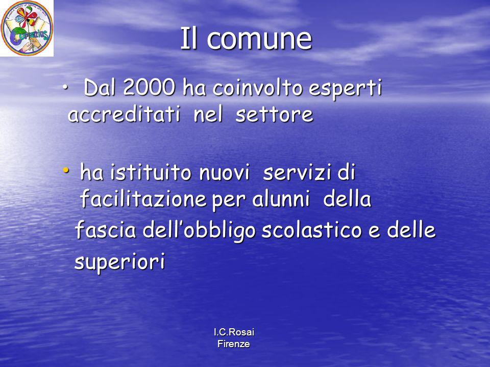 I.C.Rosai Firenze ha istituito nuovi servizi di facilitazione per alunni della ha istituito nuovi servizi di facilitazione per alunni della fascia del