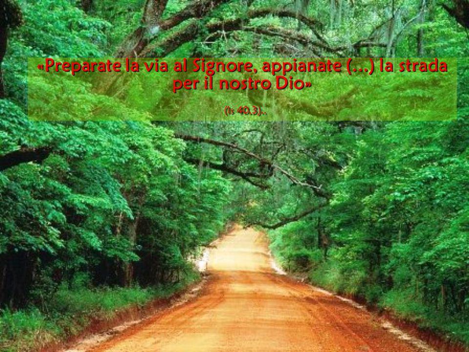 «Preparate la via al Signore, appianate (...) la strada per il nostro Dio» (Is 40,3)..