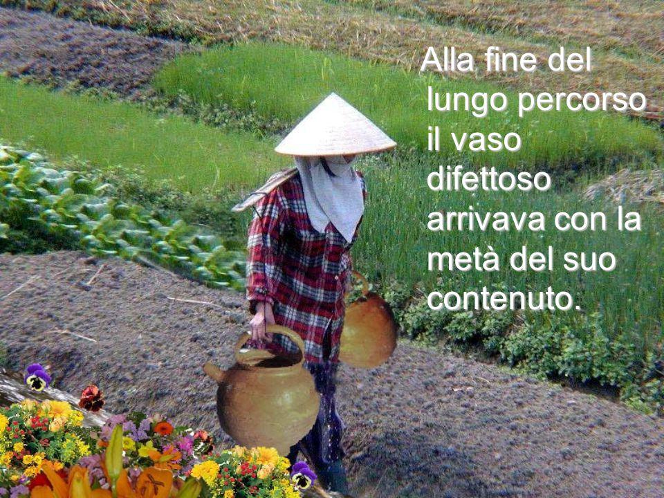 Uno dei vasi avava una crepa, mentre l'altro era perfetto e consegnava sempre tutto il suo contenuto di acqua. Uno dei vasi avava una crepa, mentre l'